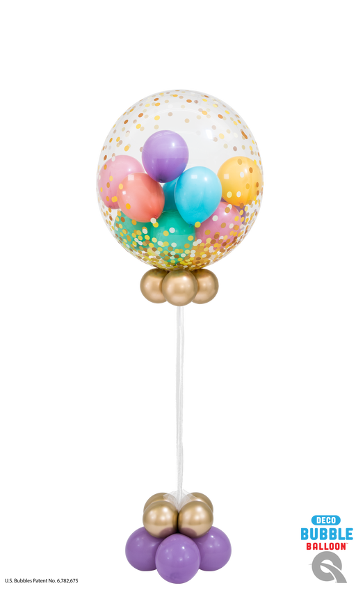 Confetti Dot Gold and Pastel Bubble Balloon