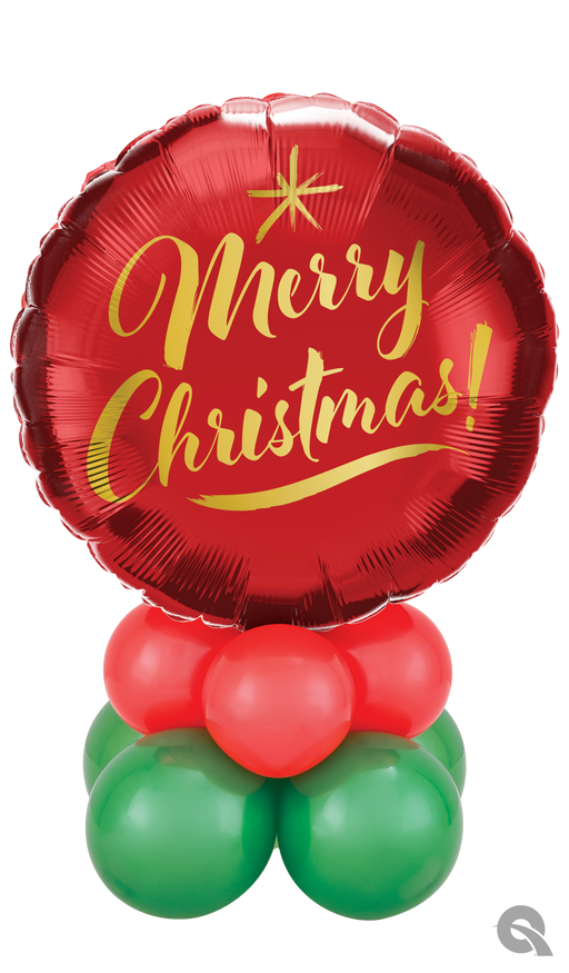 Merry Christmas Air Filled Mini Table Balloon Decoration