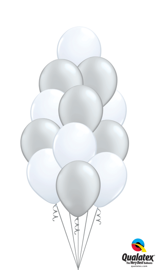 Clusters of 12 latex balloons