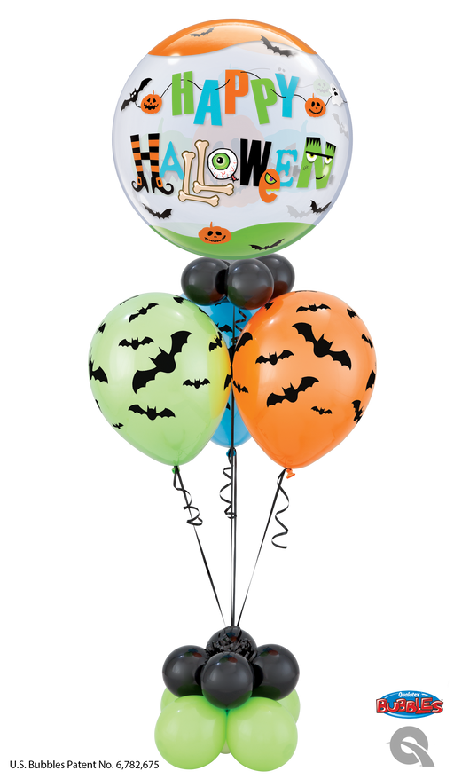 Halloween bubble cluster