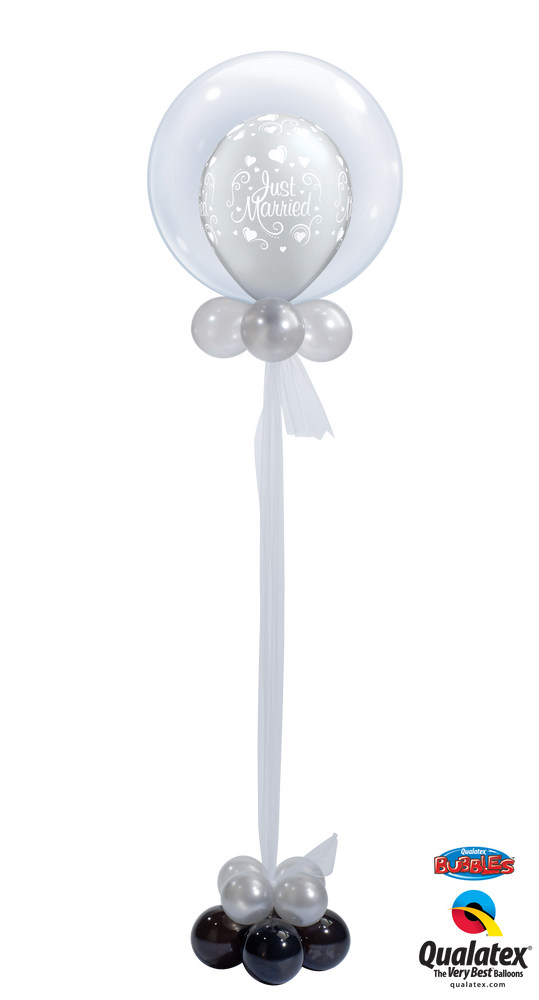 Just Married Deco Bubble Balloon