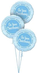 Christening Triple Bouquet (Blue)