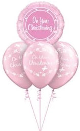 On Your Christening Bouquet (Pink)