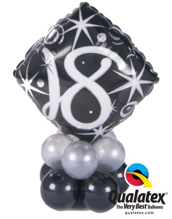 Age Birthday Mini Table Decoration (Black and silver)