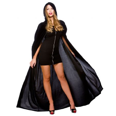 Deluxe Velvet Hooded Cape