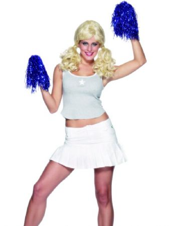 Metallic Blue Cheerleader Pom Pom (24176)