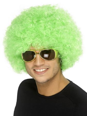 Green Afro Wig (42084)