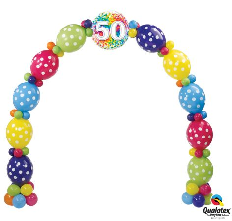 Birthday Confetti Balloon Arch