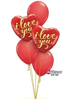 I Love You Bouquet (Red & Gold)
