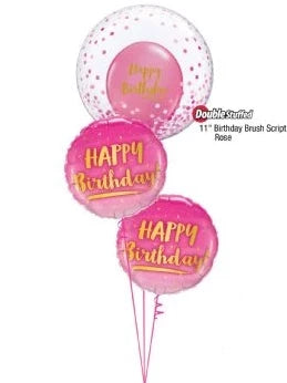 Confetti Happy Birthday Bubble Bouquet (Pink)