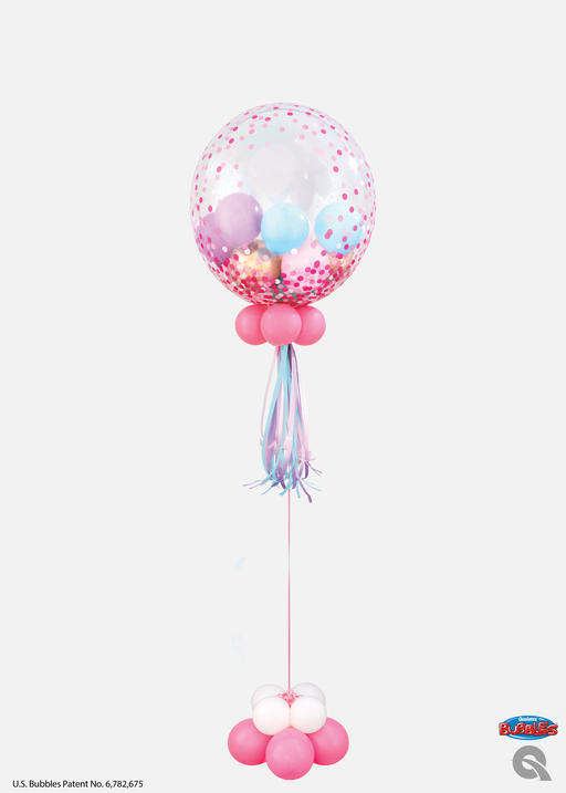 Confetti Dot Bubble Balloon with mini balloon weight