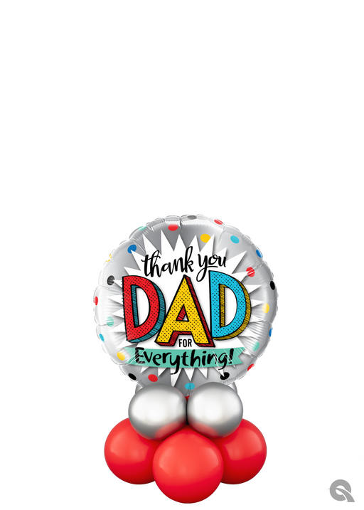 Fathers Day Table Balloon