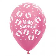 Baby Shower Feet Latex Balloon