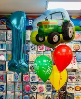 Tractor Balloon Cluster and Age Number Balloon