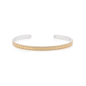 Anna Beck: Dotted Stacking Cuff – Gold