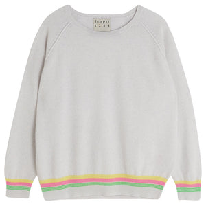 Jumper 1234 Grey Striped Cashmere Jumper