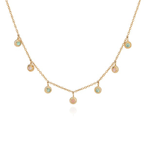 Anna Beck Guava And Green Amethyst Collar Necklace - Gold