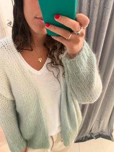 Cream and Mint Ombré Cardigan