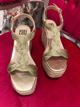 Load image into Gallery viewer, Bibi Lou Gold Platform Sandal