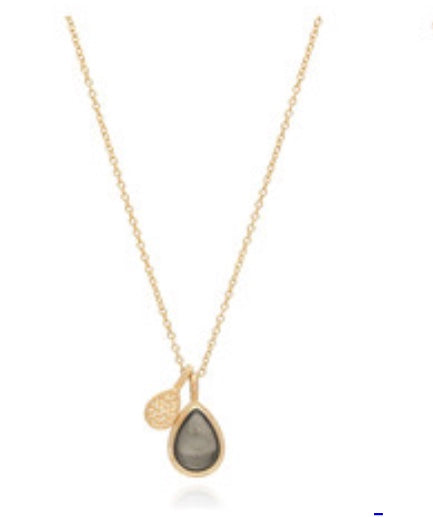 Anna Beck: Mirage Pyrite Double Drop Reversible Pendant Gold Necklace