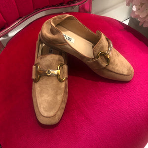 Bibi Lou Tan With Buckle Loafers