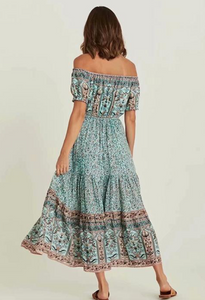 Off Shoulder Boho Dress