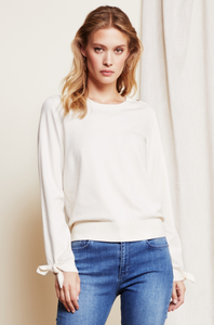 Fabienne Chapot Molly Bow Pullover Cream White