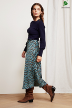 Load image into Gallery viewer, Fabienne Chapot Claire Skirt Peacock Party