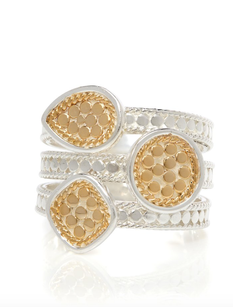 Anna Beck: Signature Beaded Triple Ring