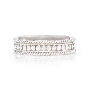 Anna Beck: Dotted Stacking Ring - Silver