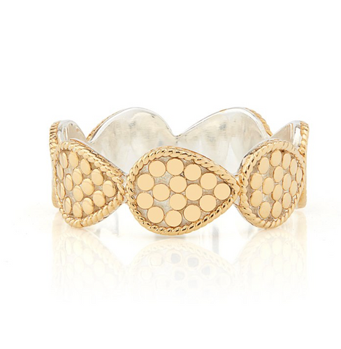 Anna Beck: Mini Teardrop Band Ring - Gold