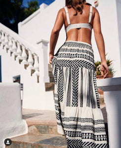Devotion Sara Maxi Skirt - Black & White
