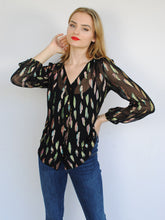 Load image into Gallery viewer, Stardust Betty Blouse Metallic Sunset