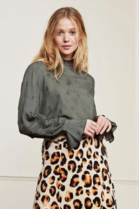 Fabienne Chapot Leo Top - Army Green