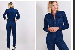 Heartless Denim Jumpsuit