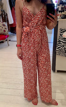 Load image into Gallery viewer, Scarlet Roos Red Floral Jumpsuit
