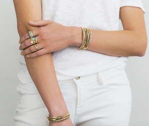 Anna Beck: Smooth Stacking Cuff – Gold