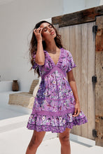 Load image into Gallery viewer, Jaase Rhodium Print Mini Dress Lilac