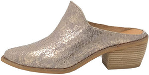 Alpeteam Metallic Clog Shoes