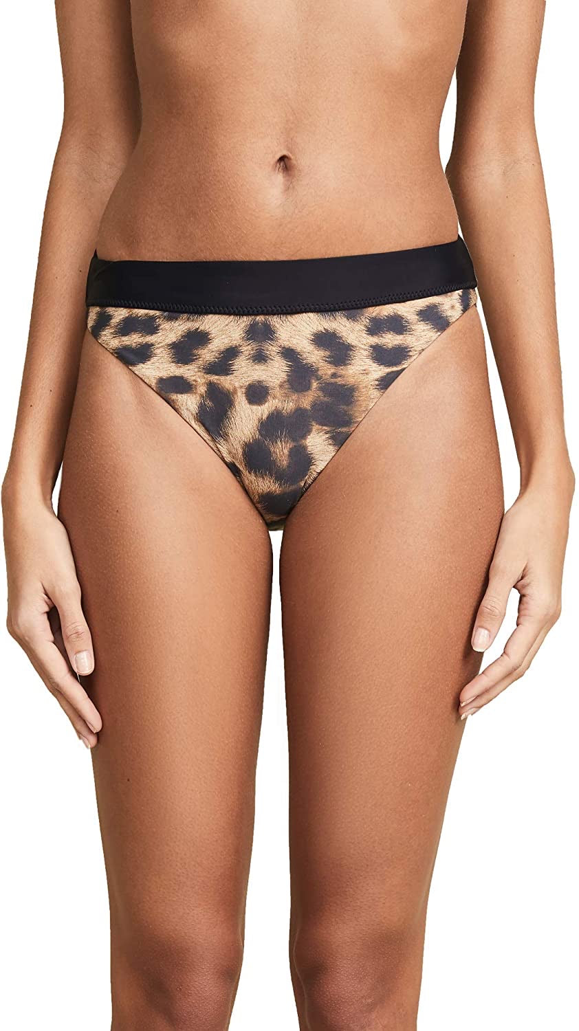 PilyQ Jungle High Waisted Full Bikini Bottoms