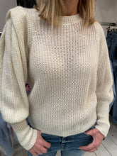 Load image into Gallery viewer, Puff Sleeve Knitted Crew Neck Jumper