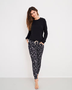 Stripe and Stare Black Constellation Lounge Pant