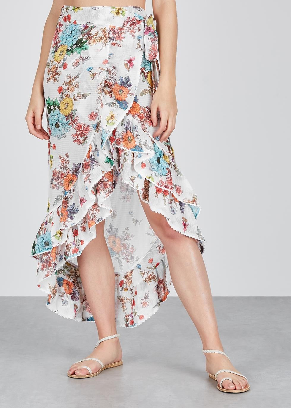 PilyQ Wildflower Kiki Gauze Wrap Skirt