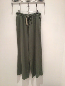 Cheesecloth Wide Leg Trousers