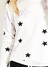 Load image into Gallery viewer, Stripe and Stare Pink Star Sweatshirt