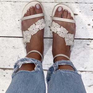 Lola Cruz Off White Italian Sandals