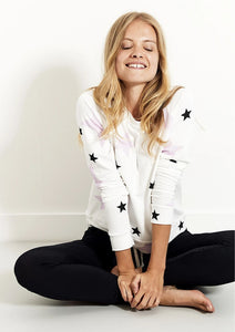 Stripe and Stare Pink Star Sweatshirt