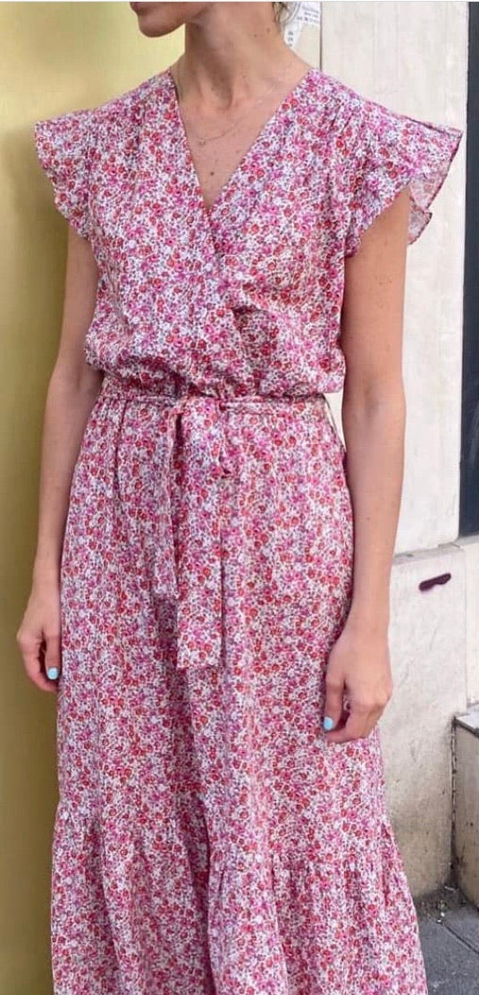 Scarlet Roos Floral Maxi Dress