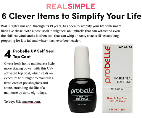 Real Simple Online - UV Self Seal Top Coat