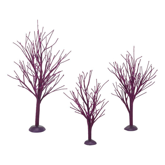 PURPLE BARE BRANCH TREES S/3